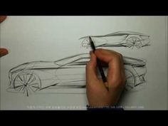 자동차 스케치 & 디자인(Tip-Up View)
