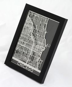 Love this Stainless Steel Chicago Map Framed Wall Art by Cut Maps on #zulily! #zulilyfinds