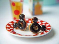 Mickey Mouse Doughnut Titanium Post Earrings Everyday Children Teenagers Earrings Hypoallergenic Nickel Free by KaoriKaori on Etsy https://www.etsy.com/listing/65112604/mickey-mouse-doughnut-titanium-post