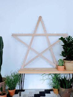 DIY String Light Star