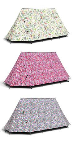 Camping with liberty of London tents...