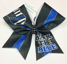 Bows by April - BACK THE BLUE Police Sublimated Bow, $15.00 (http://www.bowsbyapril.com/back-the-blue-police-sublimated-bow/)