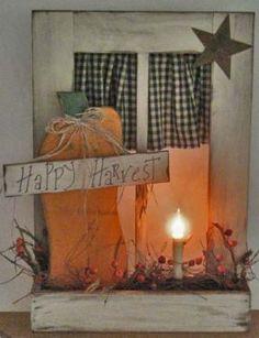 fall pumpkin window