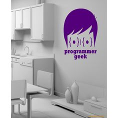 A computer a laptop office programmer geek Wall Art Sticker Decal