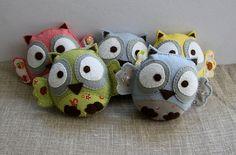 Adorable wool owls...