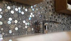 We love these unusual round mosaics from the BO mix collection. Perfect for a feature wall or splash back. #design #architecture #interiors #decor #homedesign #homeinteriors #ceramics #tiles #restaurant #cafe #bars #shoppingcentres #retail #leisure #tilesitswhatwedo #mosaics #featurewall #mosaicwallpaper #round #splashback #kitchens #ihaveathingwithtiles #welovetiles #colours