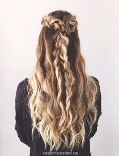 2 braids, 3 ways! (half up)