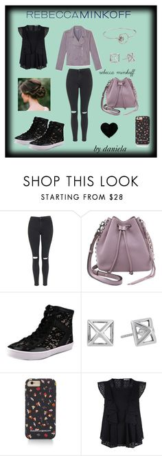 """""""#SeeBuyWear"""" by guada-lescano ❤ liked on Polyvore featuring Rebecca Minkoff, Topshop, women's clothing, women, female, woman, misses and juniors"""