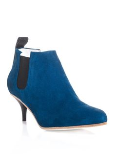 Acne blue Suede Palma ankle boots