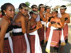 East Timor women in National dress.
