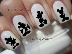 Disney Mickey Mouse Silhouette Nail Decals