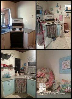 Small kitchen makeover. Before and after