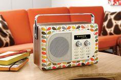 Vintage!!!  Orla Kiely Mult-Stem print on an old radio.
