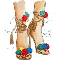 Trendy Fashion, Fashion Art, Fashion Shoes, Fashion Dresses, Fashion Illustration Shoes, Dress Illustration, Shoe Sketches, Moda Chic, Walk In My Shoes