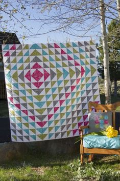 Harmony quilt designed by Valori Wells. Features In the Bloom by Valori Wells and Kona Cotton.