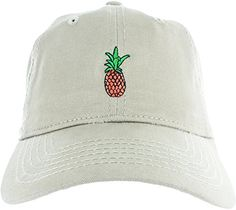 339f09ff Pineapple Hat Pineapple Dad Hat Embroidered Adjustable Black Baseball Cap  at Amazon Men's Clothing store: