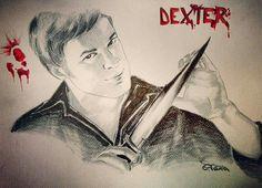 Dexter, tecnica mista su cartoncino.