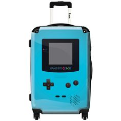 iKase 'Game Boy Sky Blue' 24-inch Fashion Hardside Spinner Suitcase