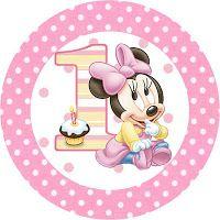 """Imprimés Thème """"Minnie - 1 An"""" : http://fazendoanossafesta.com.br/2012/09/minnie-baby-kit-completo-com-molduras-para-convites-rotulos-para-guloseimas-lembrancinhas-e-imagens.html/"""