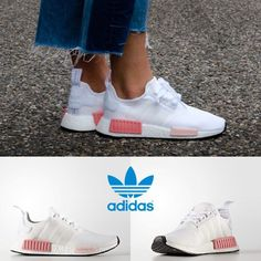 2d5a6324a93f Adidas Original NMD R1 Running Sneakers White White Pink BY9952 SZ 4-11  Limited