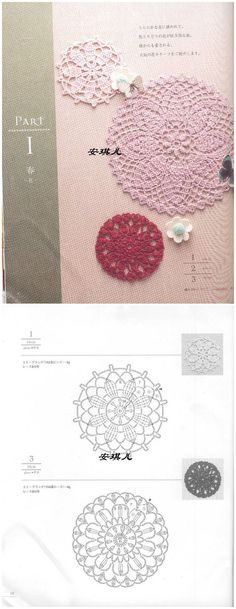 Fell in love with crochet _ absolutely love cloud picture album - Heap Sugar Crochet Motif Patterns, Crochet Diagram, Crochet Chart, Crochet Designs, Crochet Books, Crochet Home, Thread Crochet, Crochet Stitches, Crochet Circles