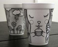 Coffee Cup Art  Fubiz