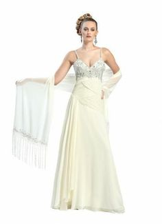 SUE WONG Style W4300; NEW Chiffon Beaded Full-Length Evening Dress Gown BHFO #SueWong #EveningDress
