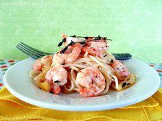 Roasted Lemon Garlic Herb Shrimp w/ Spaghetti by ~CinnamonGirl, via Flickr