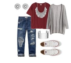 """""""Comfy """" by sydney-alexis-spradley on Polyvore featuring Abercrombie & Fitch, Lucky Brand, Michael Kors, Dinh Van and Converse"""