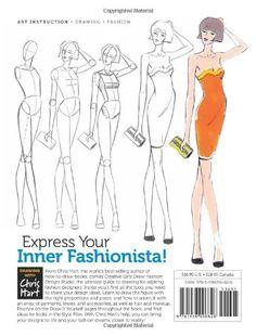 Fashion Design Studio: Learn to Draw Figures, Fashion, Hairstyles & More (Creative Girls Draw): Christopher Hart: 9781936096626: Amazon.com: Books