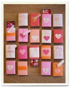 Valentines from the heart!  Matchboxes are cheap, right?