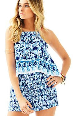 6d4bf3cf104 Lilly Pulitzer Celyn Romper Spring Fashion