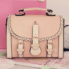 (FL000989) (Pink) 2012 Korean New Style Personalized Sweet Lace Japanese Vivi Hand Carry Shoulder Bag Messenger Handbag [FL000989] - US $34.99 : FashionLeap