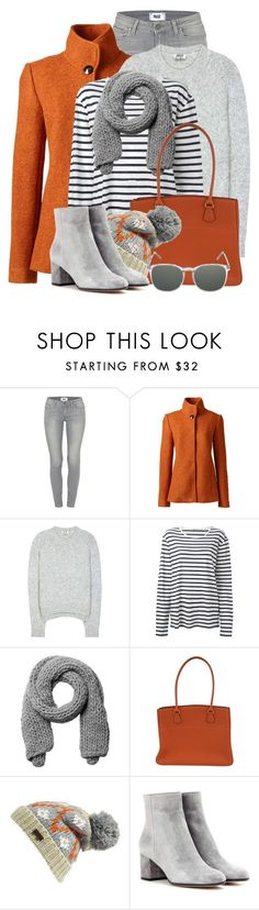 """""""Orange, Grey & Stripes"""" by brendariley-1 ❤ liked on Polyvore featuring Paige Denim, Lands' End, Acne Studios, T By Alexander Wang, Monki, Hermès, Barbour, Gianvito Rossi and Komono"""
