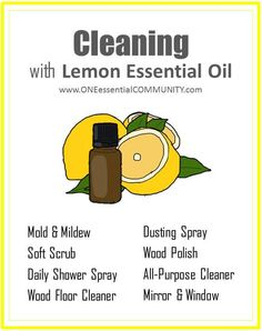 8 DIY Recipes for Cleaning with Lemon Essential Oil {plus a free printable}