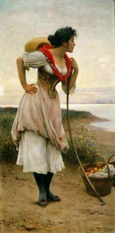 Gyümölcs Vendor Eugene de Blaas