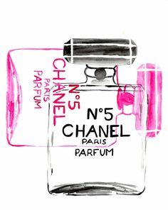 NEON CHANEL: Hand Painted Fashion Illustration/Painting por HOBBRY Fashion Wall Art, Fashion Painting, Canvas Collage, Wall Collage, Parfum Paris, Chanel Wall Art, Pink Wallpaper, Picture Wall, Photo Wall
