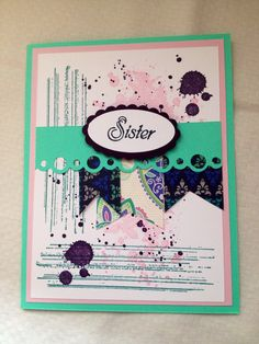 Sister Card Copy by PinchofCreativity on Etsy Sisters, Cards, Etsy, Maps, Sister Quotes