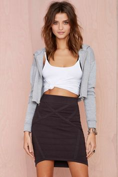 Nasty Gal Thunder Road Knit Skirt | Shop Clothes at Nasty Gal