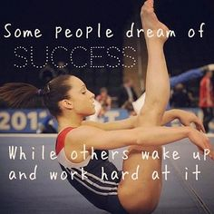 Some people dream of success while others wake up and work hard at it. the one dreaming :\