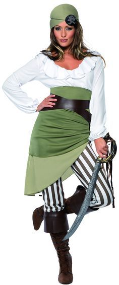 Easy homemade pirate costume homemade costumes and easy smiffys womens shipmate sweetie costume top skirt leggings bandanna belt and bootcuffs multi medium check this awesome product by going to the link at solutioingenieria Gallery