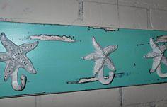 Nautical Coat Rack / Beach Decor / Wall Decor / by Theshabbyshak, $42.00