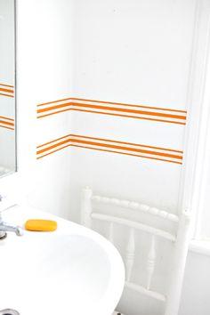 Striped wallpaper border
