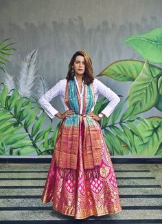 World Ethnic Day – Craftsvilla Indian Attire, Indian Wear, Indian Outfits, Fashion Art, Fashion Beauty, Fashion Design, Lehenga Dupatta, Dress Outfits, Dress Clothes