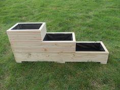 Large Wooden Planter / Window Box / Flower Planter / Herb Planter /3-2-1