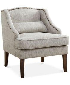 Baylor Swoop Arm Accent Chair, Direct Ship  | macys.com