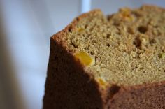 Fresh Mango Lime Bread-made with whole wheat flour, fresh mango, grated apples, lime zest, ginger, cinnamon, golden raisins, and brown sugar.
