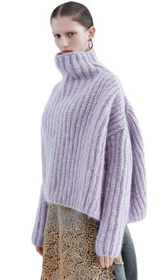 Acne Studios - Baylay big chu lavender grey Shop Ready to Wear, Accessories, Shoes and Denim for Men and Women