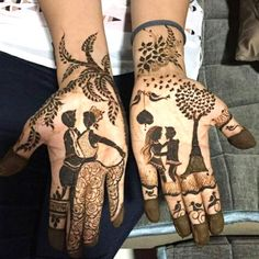 Love Story Henna - The Trending New Bridal Mehndi design Idea you'll LOVE! Indian Henna Designs, Modern Mehndi Designs, Mehndi Designs For Girls, Mehndi Design Photos, New Bridal Mehndi Designs, Dulhan Mehndi Designs, Latest Mehndi Designs, Mehndi Images, Tribal Designs