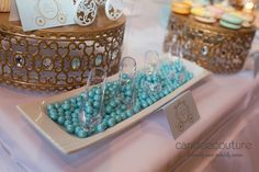 Cinderella edible candy slippers at Ella's Cinderella Sweet Table - Candee Couture Dallas, Texas
